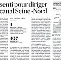 ANVERS SUR SEINE: Jean-Louis BORLOO pourrait tomber dans l'eau du <b>canal</b> Seine Nord Europe
