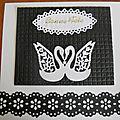 Carte noir et blanc cygnes