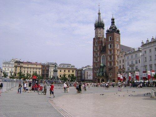 Pologne, Cracovie, place du marché