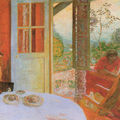 Bonnard - dining room in the country