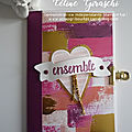 Atelier chez marie-line : mini album ensemble