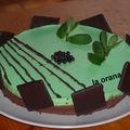 Bavarois chocolat menthe