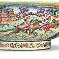 A rare massive 'Mandarin palette' hunting bowl, <b>circa</b> <b>1785</b>