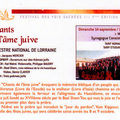 Concert de l'orchestre national de lorraine: chants de l'âme juive