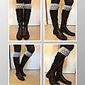 Des boot cuffs au tricot #1