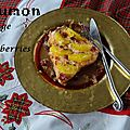 Saumon à l'orange et aux cranberries