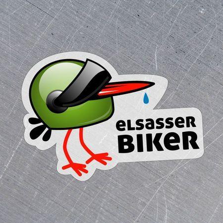 sticker Elsasser biker