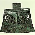 Ceremonial <b>ax</b>. Ritual device. Shang dynasty, Anyang period, 12th-11th Century BC