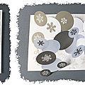 cARTe pop-up double <b>pli</b> en <b>V</b> ; les flocons de neige tombent sur le sol gelé