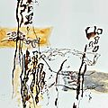 Musee-collection collages acryl encre de chine brou de noix sur papier 110x76 4080n