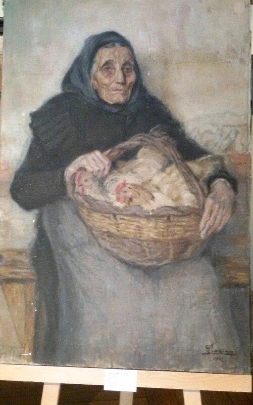 Barian La vieille femme au marché