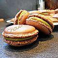 Macarons chocolat & crème de pistache