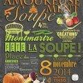 Samedi 8 novembre tous place des abbesses pour amoureusement soupe !!!
