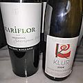 Argentine : Mariflor Sauvignon blanc 2016, Clément Klur Riesling Wineck-Schlossberg 2009, Castillon-Côtes de Bordeaux Alcée <b>2014</b>