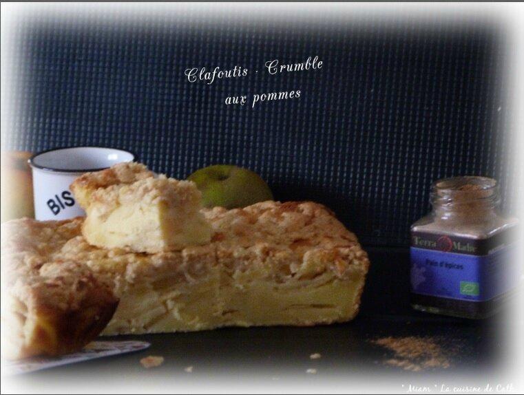 """ღ """" Miam """" clafoutis - Crumble aux pommes"""