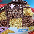Damier chocolat vanille (sans protéines de lait de vache et soja)