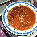 Souppe chili con carne façon boites