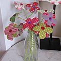 Bouquet de fleurs en tissu... blumenstrauß aus stoff...