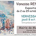 Invitation au vernissage de l'exposition de vanessa renoux