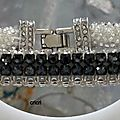 Bangle semmesh anthracite et argent