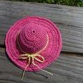 Le chapeau de la tenue d'été en détails