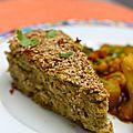 Gâteau libanais aux pois chiches et aubergines