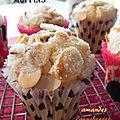 Muffins aux amandes et aux canneberges, sans gluten ni lactose
