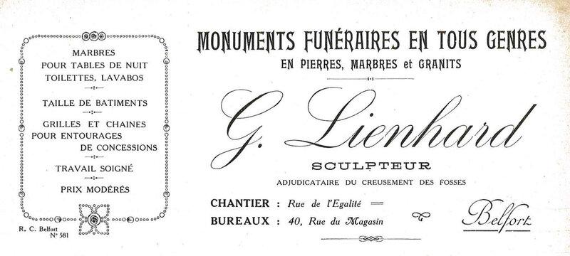 1927 09 28 Lienhard Offre Socle Poilu R