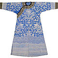 A fine blue dragon robe with black horseshoe shape cuffs, China, <b>Guangxu</b> <b>period</b>