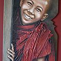 Tableau enfant moine tibétain: