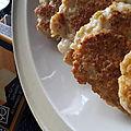 Par ici les bonnes croquettes de poulet au fromage