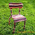 Chaise en tricot