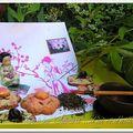 Sables chocolathe fleur de geisha... pour la collection de sablés de mamina