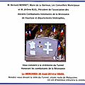 Calendrier, le <b>20</b> <b>août</b> 2014: cérémonie du tunnel du Barroux-Hommage à Fernand Blanc