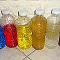 Fabriquer des bouteilles colorées