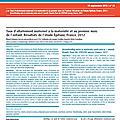Taux d'<b>allaitement</b> <b>maternel</b> à la maternité et au premier mois de l'enfant. Résultats de l'étude Épifane, France, 2012 - BEH n°34