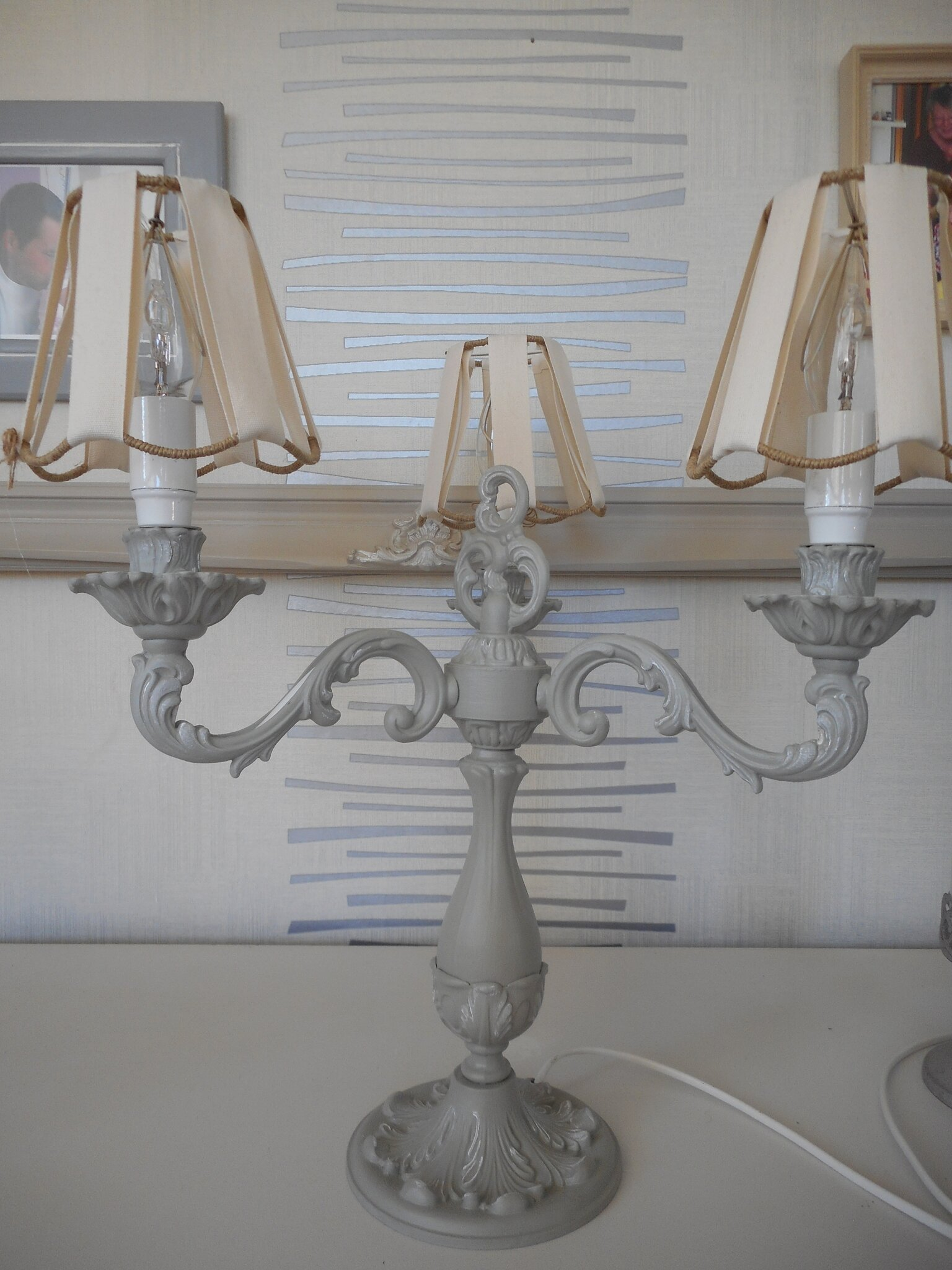 lampe trois branches 85€