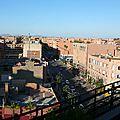 Les toits du guéliz - commencer l'année 2015 du bon pied