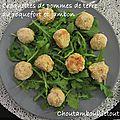 Croquettes de pommes de terre au roquefort et jambon
