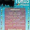 Le podium du concours Toros de France.