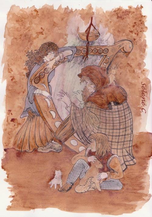 Le couple à la harpe