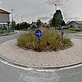 Rond-point à <b>Villefranque</b>