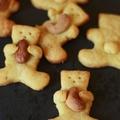 - petits oursons sablés au parmesan et piment d'espelette
