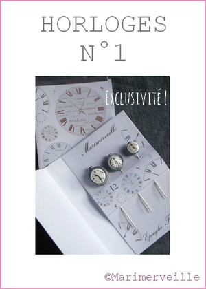 Epingles marimerveille horloges N°1