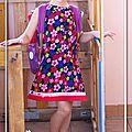 Robe fleurie en velour