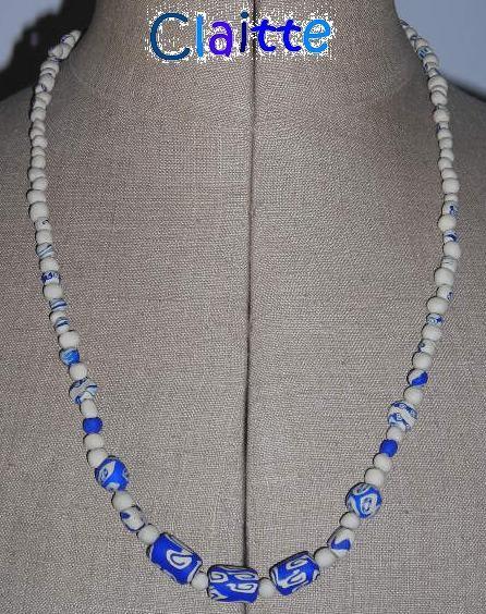 collier bleu sable