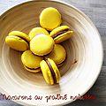Macarons au praliné noisettes