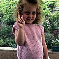 Angèle - Pull coton 4 ans en Phil Pétillant couleur <b>Eglantine</b>