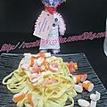 Salade de surimi et tagliatelles