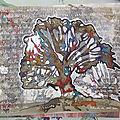 ATELIER CREATIF - 8 ART BOOK L'arbre de vie sur fond à l'<b>encre</b> noire